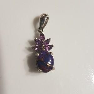 Jewelry - Purple opal pineapple pendant